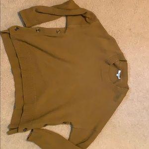 Madewell boxy mustard sweater